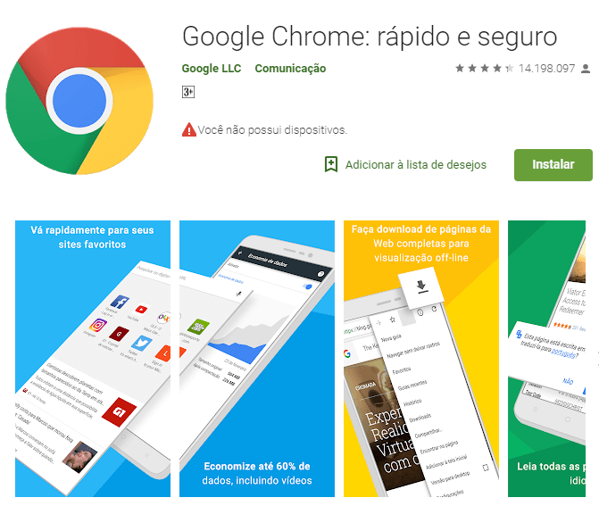 google chrome brazil